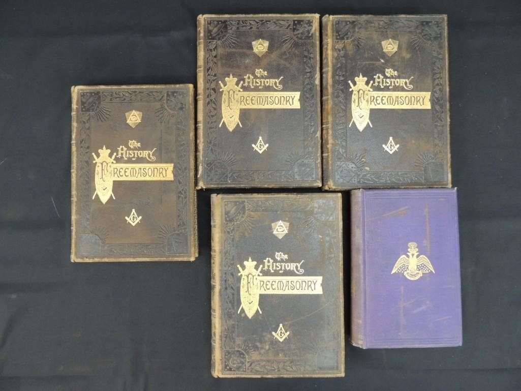 The History of Freemasonry 1889 Volumes 1-4 and Morals - 2