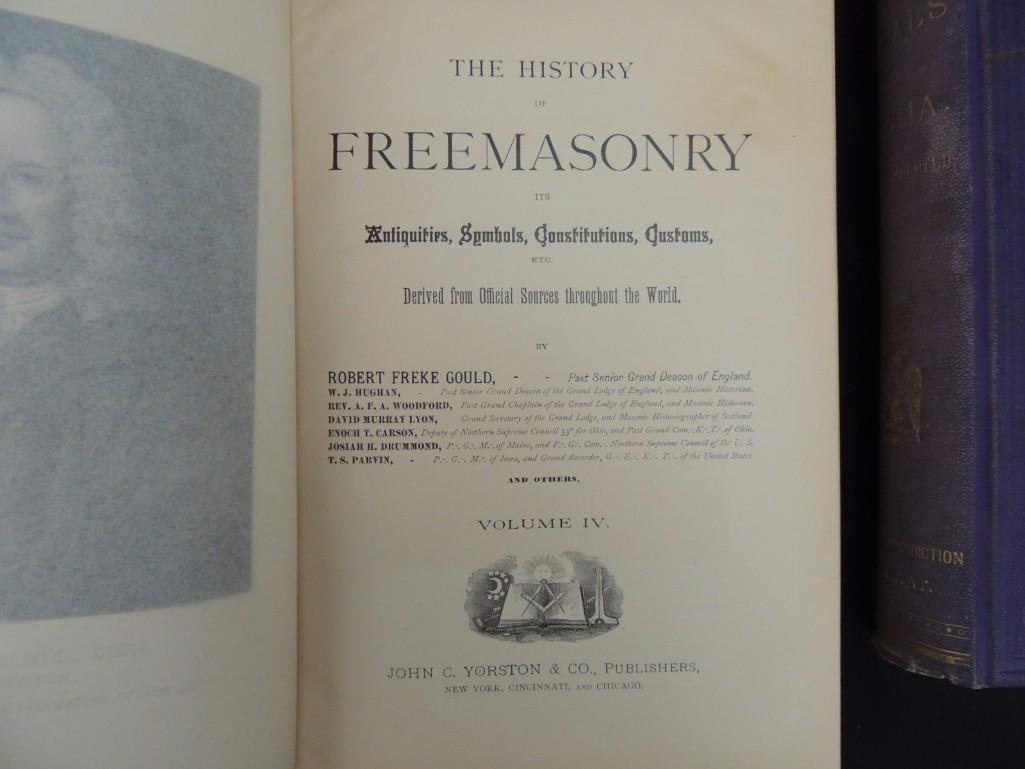 The History of Freemasonry 1889 Volumes 1-4 and Morals - 4