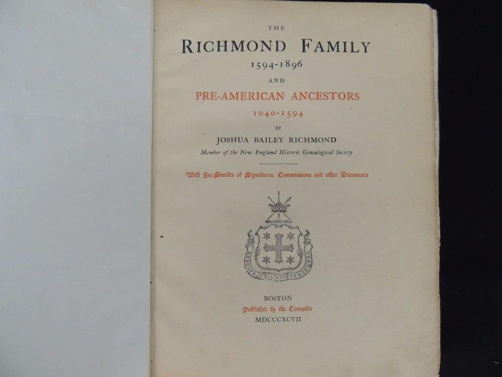 The Richmond Family 1594-1896 and Pre-American - 3