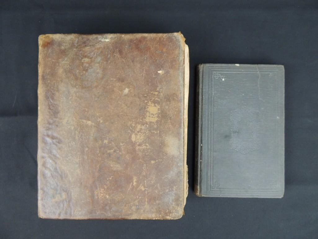 1826 Copy of the Holy Bible and 1873 Book of Genesis