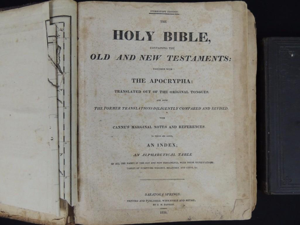 1826 Copy of the Holy Bible and 1873 Book of Genesis - 2