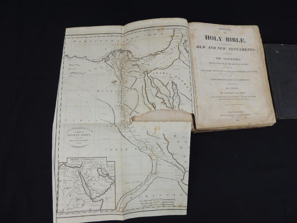 1826 Copy of the Holy Bible and 1873 Book of Genesis - 4