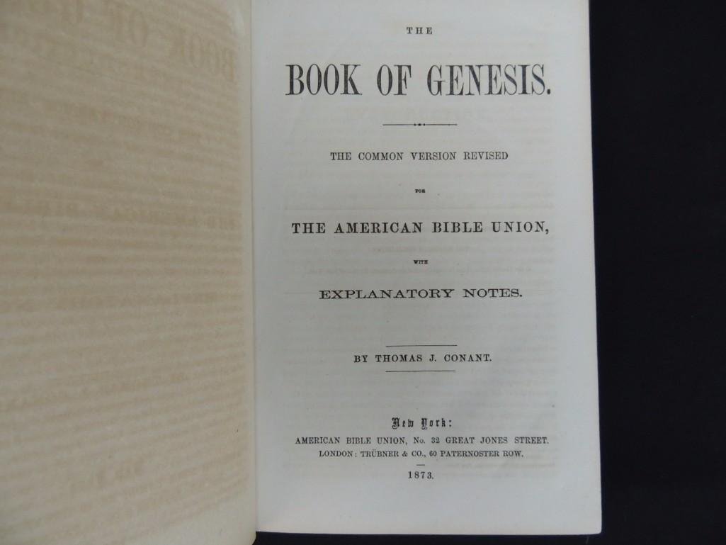 1826 Copy of the Holy Bible and 1873 Book of Genesis - 5
