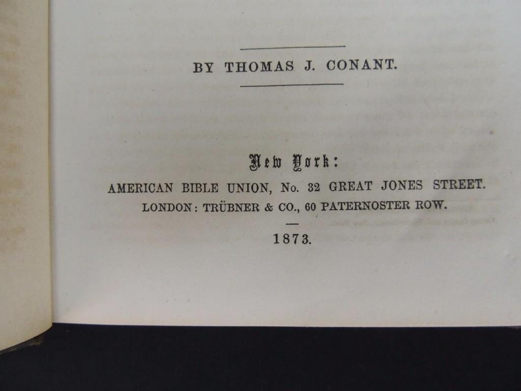 1826 Copy of the Holy Bible and 1873 Book of Genesis - 6