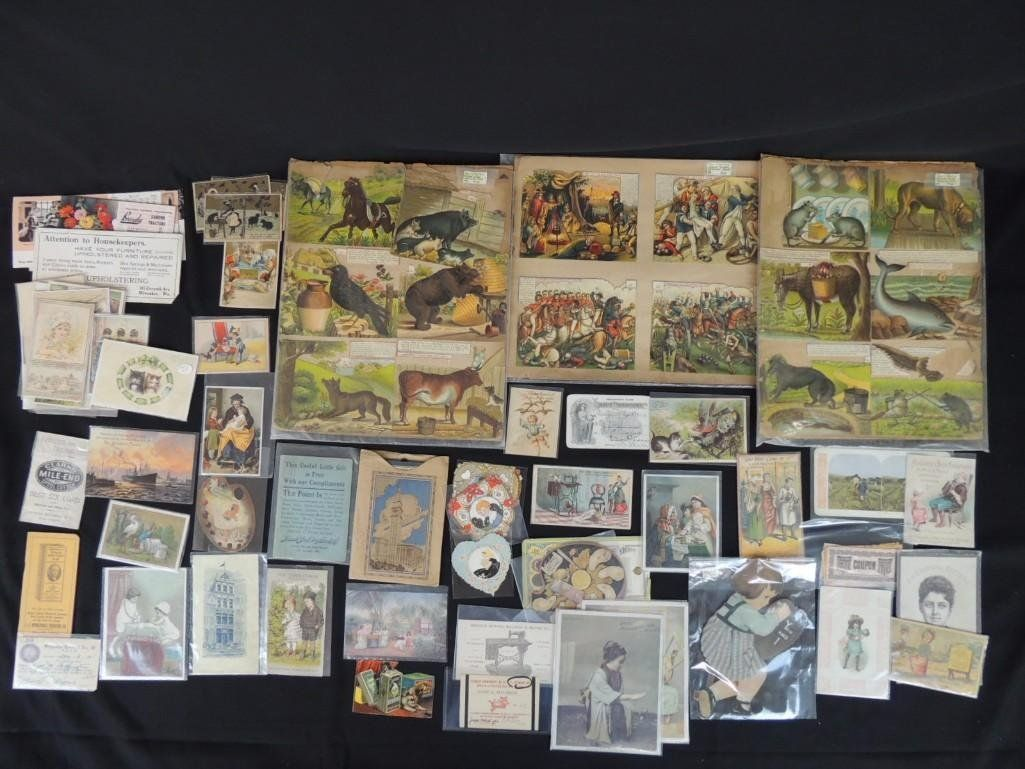 Large Group of Trade Cards and Advertisements
