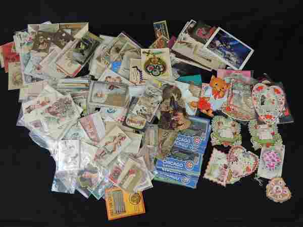 Large Group of Trade Cards, Advertisements, Postcards,