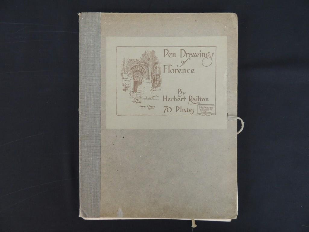 Pen Drawings of Florence by Herbert Railton with 70