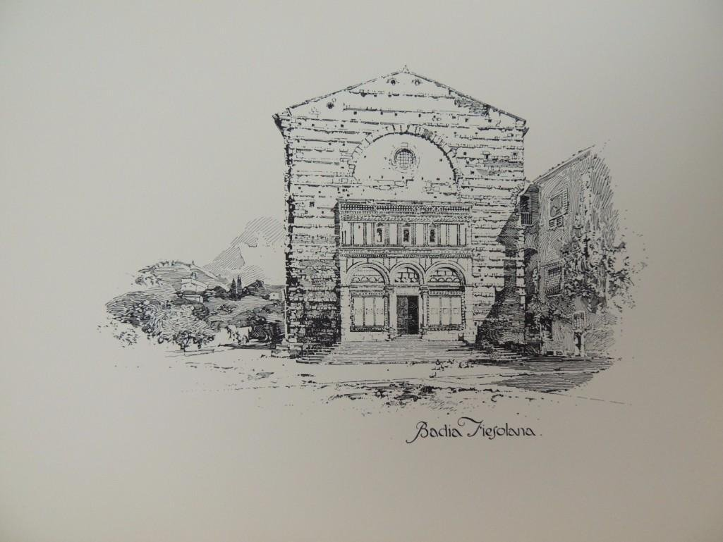 Pen Drawings of Florence by Herbert Railton with 70 - 5