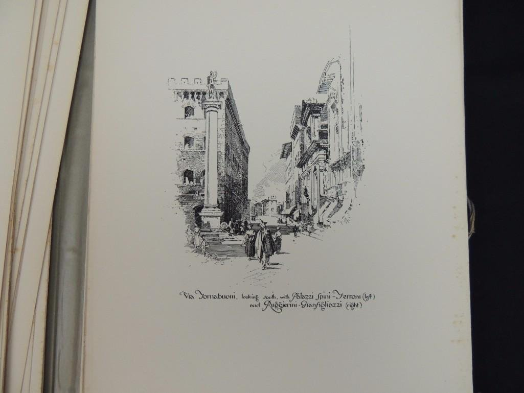 Pen Drawings of Florence by Herbert Railton with 70 - 6