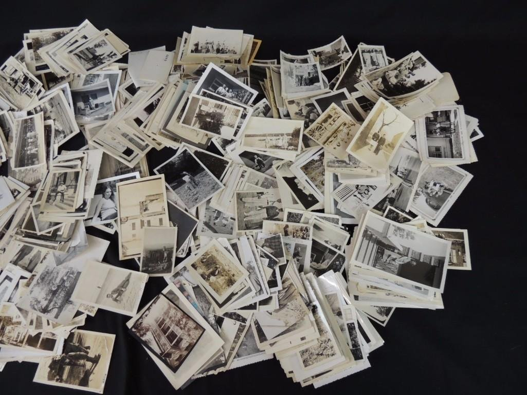 Large Group of Black and White Photos Featuring - 2