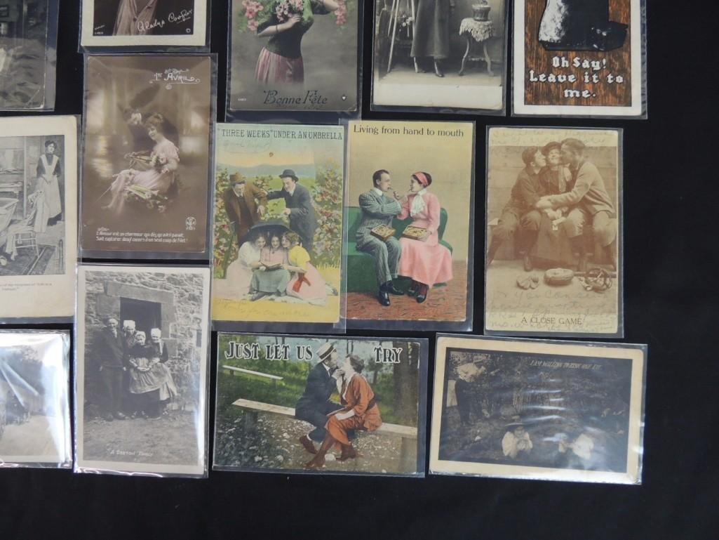 Group of 23 Women, Men, and Couples Postcards - 2