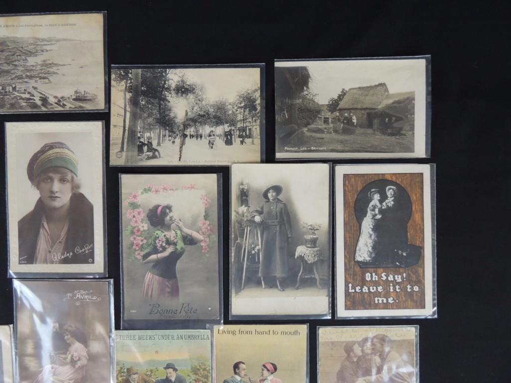 Group of 23 Women, Men, and Couples Postcards - 3