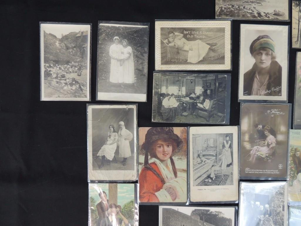 Group of 23 Women, Men, and Couples Postcards - 5