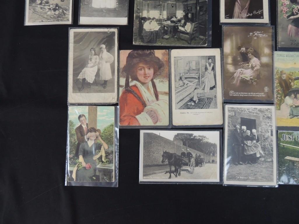 Group of 23 Women, Men, and Couples Postcards - 6