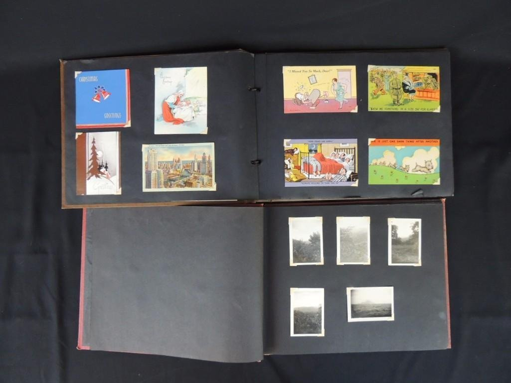 Group of 2 Postcard and Photograph Album Featuring