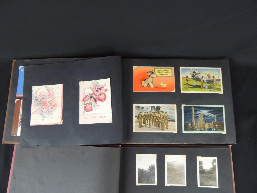 Group of 2 Postcard and Photograph Album Featuring - 3