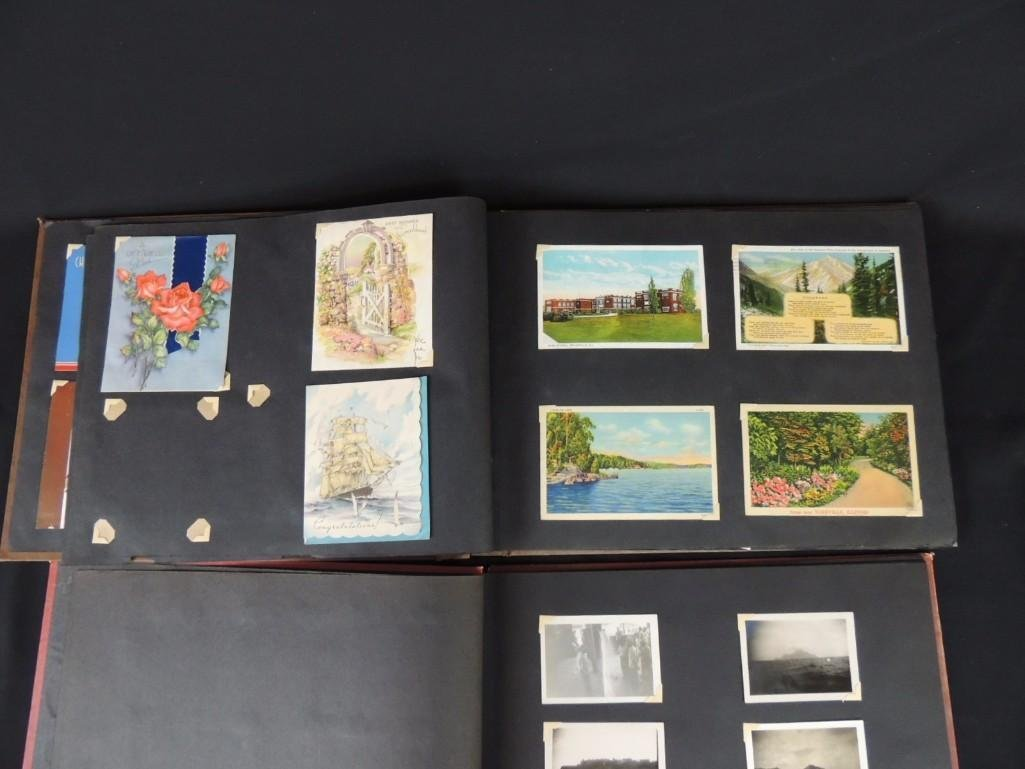 Group of 2 Postcard and Photograph Album Featuring - 5