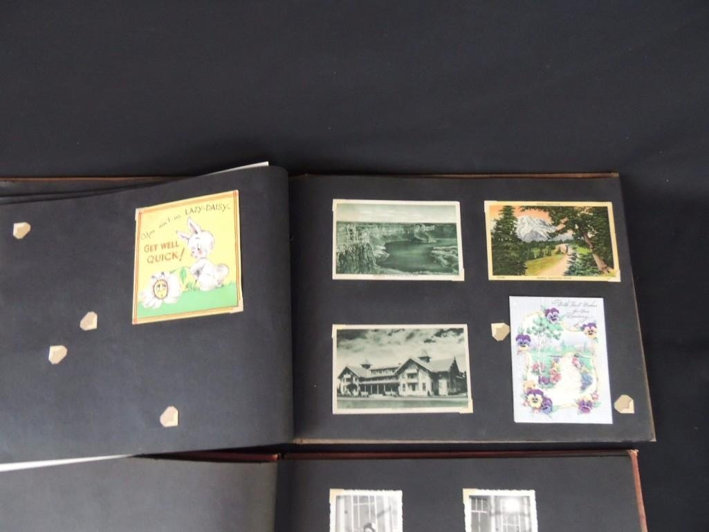 Group of 2 Postcard and Photograph Album Featuring - 8