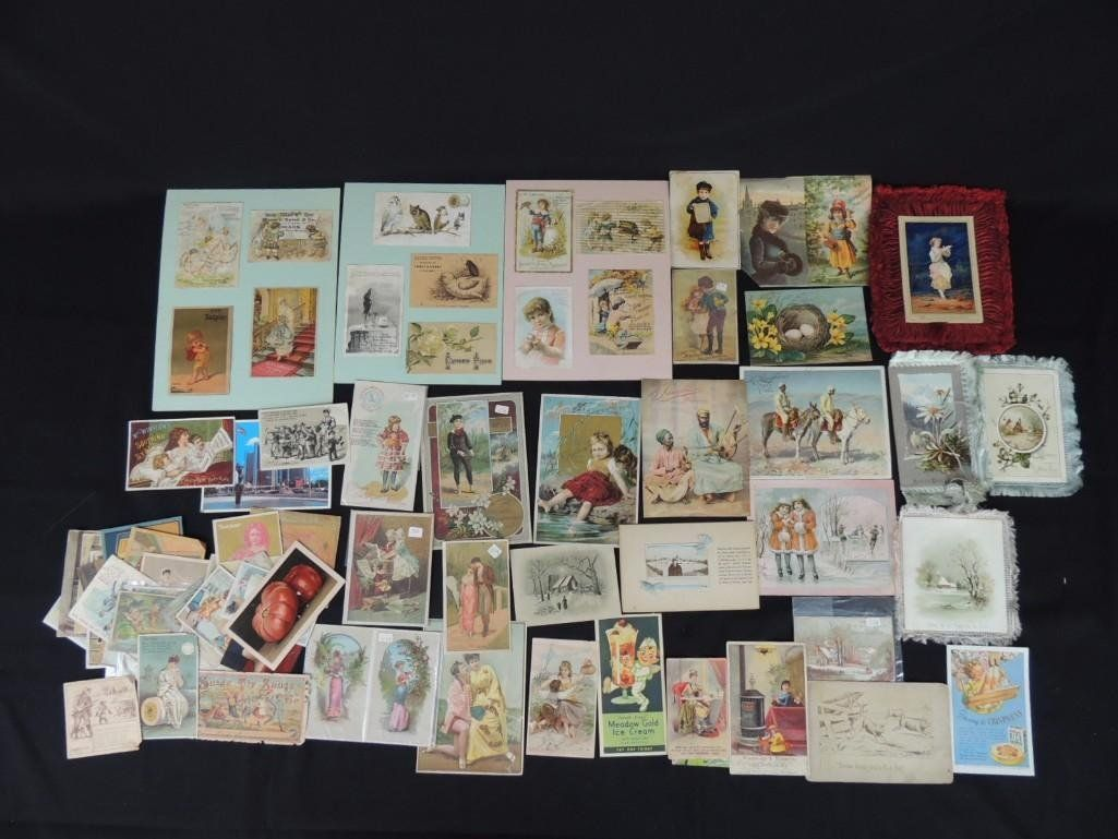 Large Group of Victorian Trade Cards Featuring