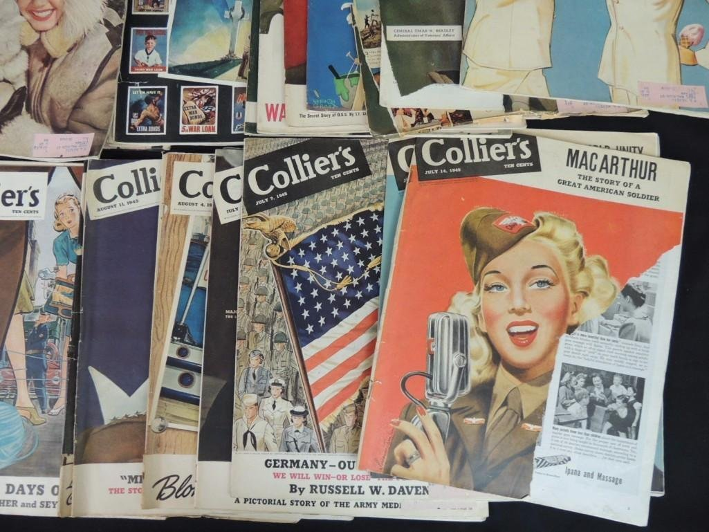 Large Group of Collier's Magazines From the Year 1945 - 3