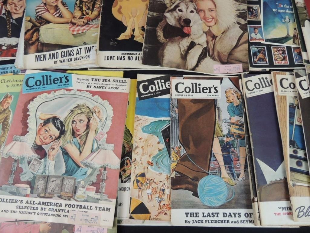 Large Group of Collier's Magazines From the Year 1945 - 4