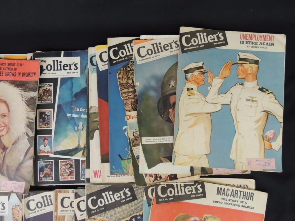 Large Group of Collier's Magazines From the Year 1945 - 8