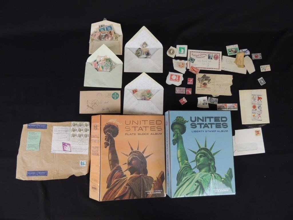 Group of New and Used Postage Stamps and Incomplete