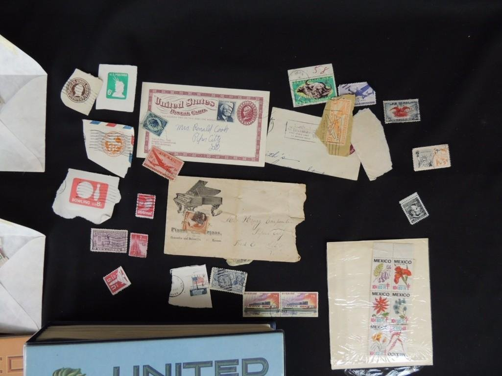 Group of New and Used Postage Stamps and Incomplete - 2