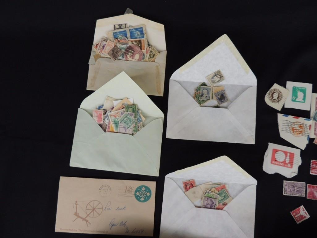 Group of New and Used Postage Stamps and Incomplete - 3