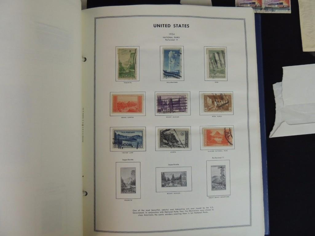Group of New and Used Postage Stamps and Incomplete - 9