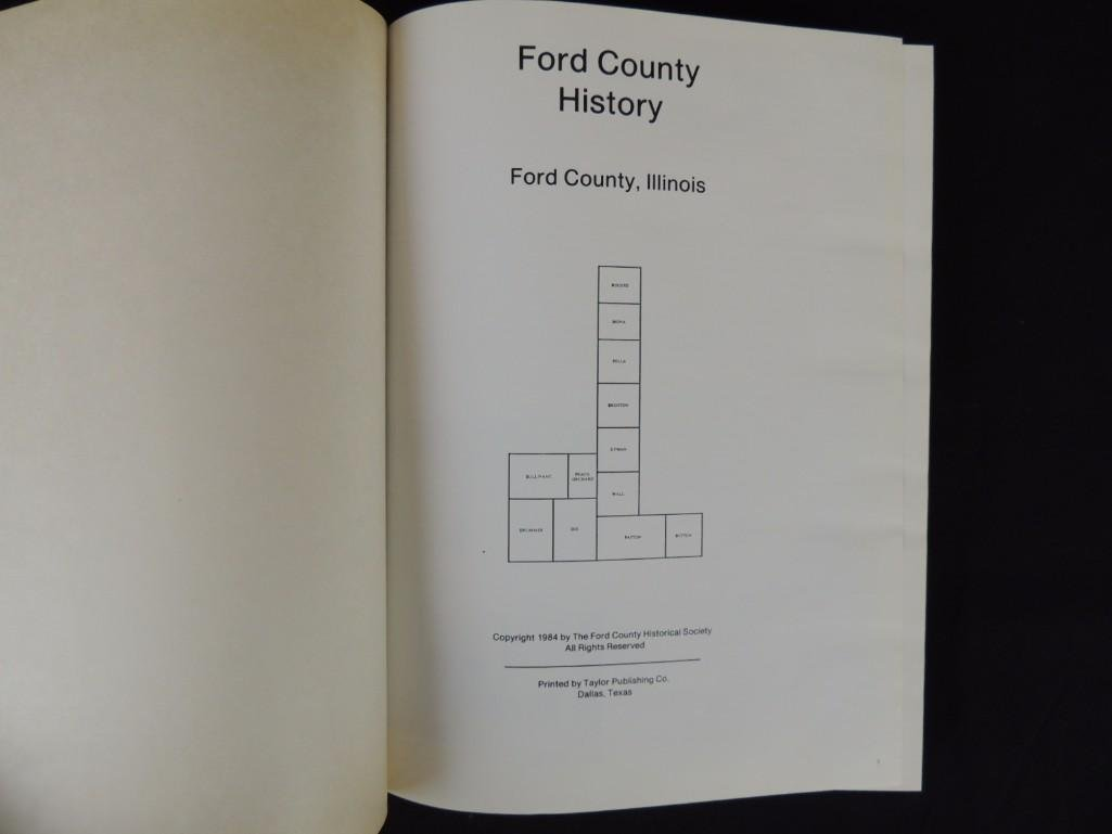 1985 History of Ford County Illinois Leather Bound Book - 3