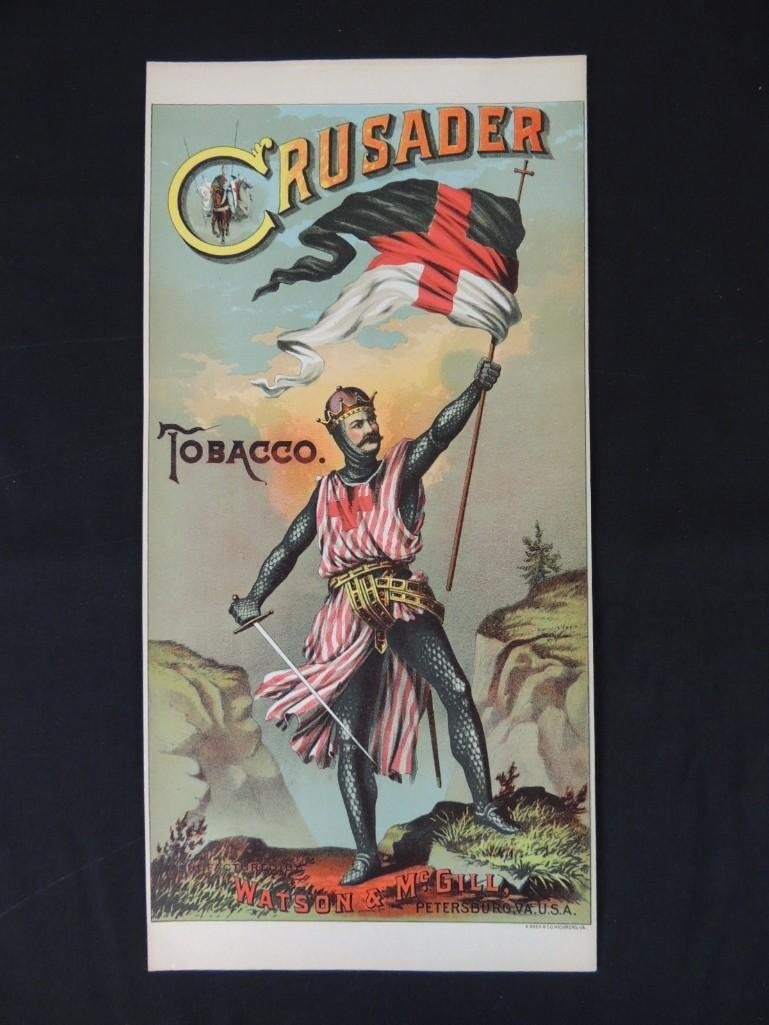 Crusader Tobacco Manufactured by Watson & McGill Paper