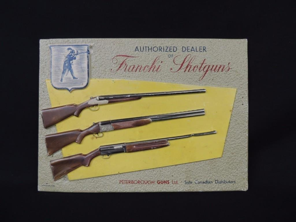 Franchi Shotguns Advertising Cardboard and Plastic