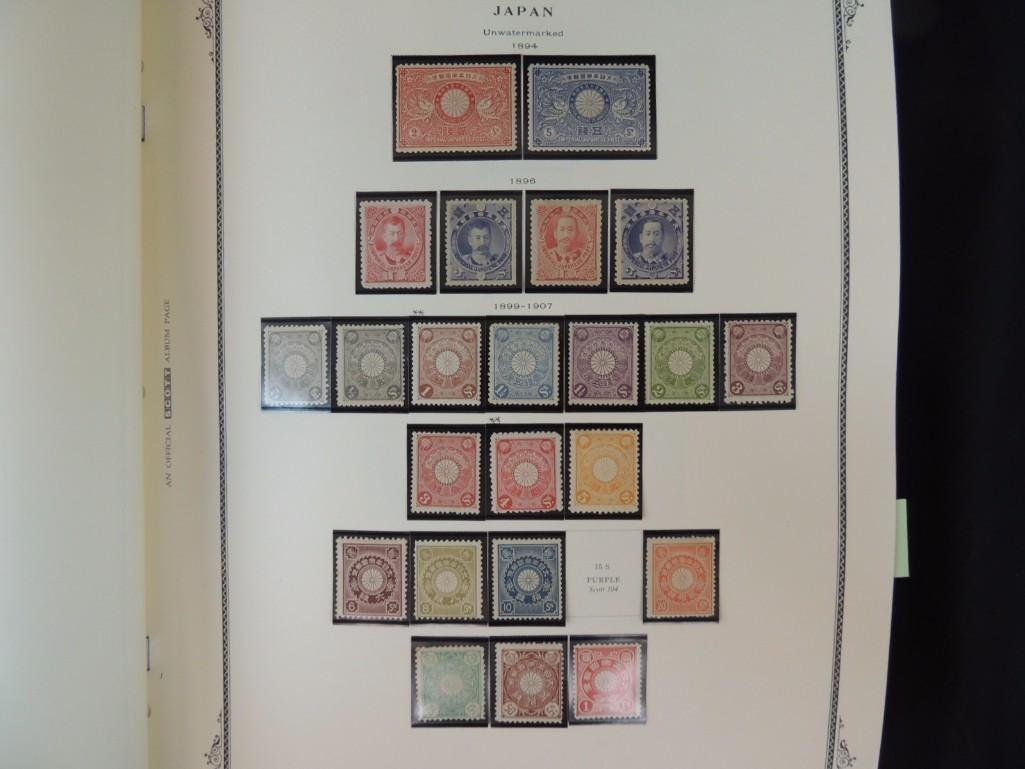 Japanese Postage Stamp Album with 160 Plus Pages, - 10