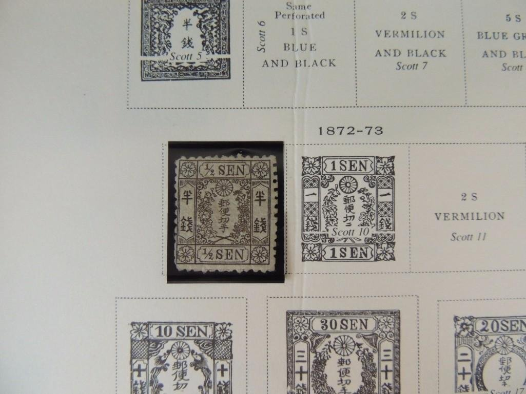 Japanese Postage Stamp Album with 160 Plus Pages, - 3