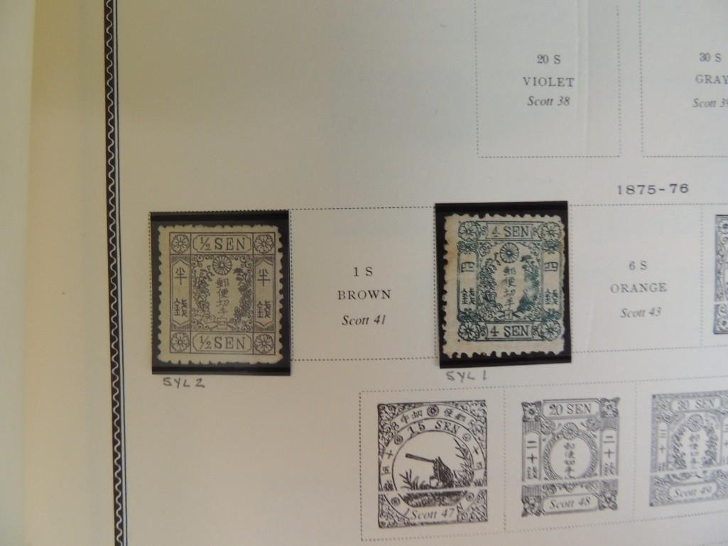 Japanese Postage Stamp Album with 160 Plus Pages, - 5