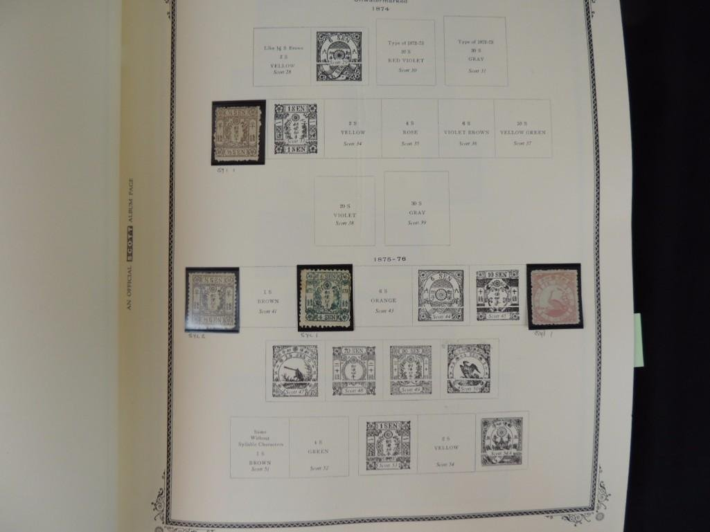 Japanese Postage Stamp Album with 160 Plus Pages, - 7