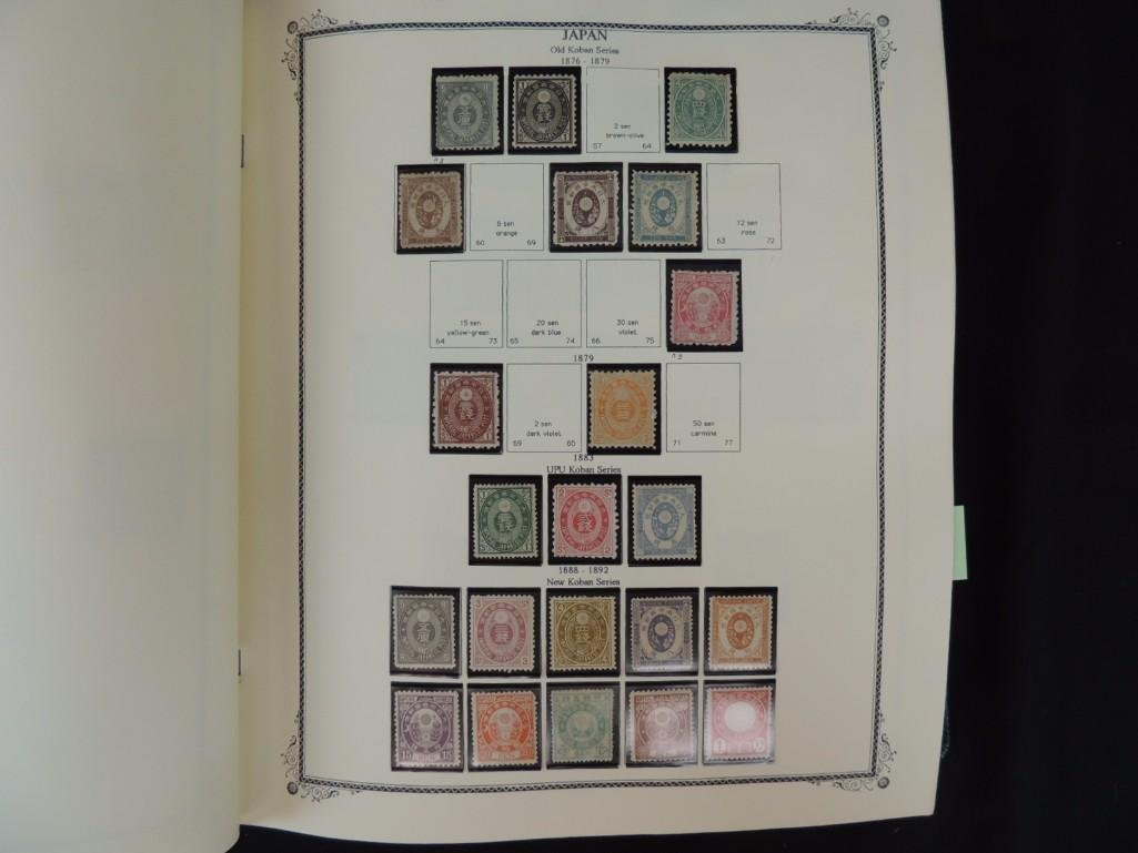 Japanese Postage Stamp Album with 160 Plus Pages, - 8