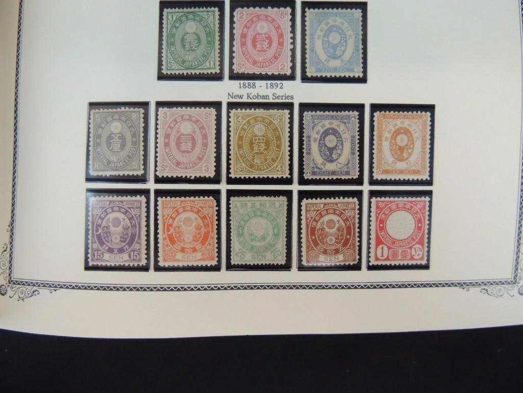 Japanese Postage Stamp Album with 160 Plus Pages, - 9