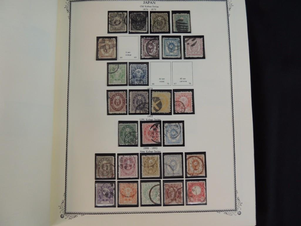 Japanese Postage Stamp Album with 120 Plus Pages 100's - 10