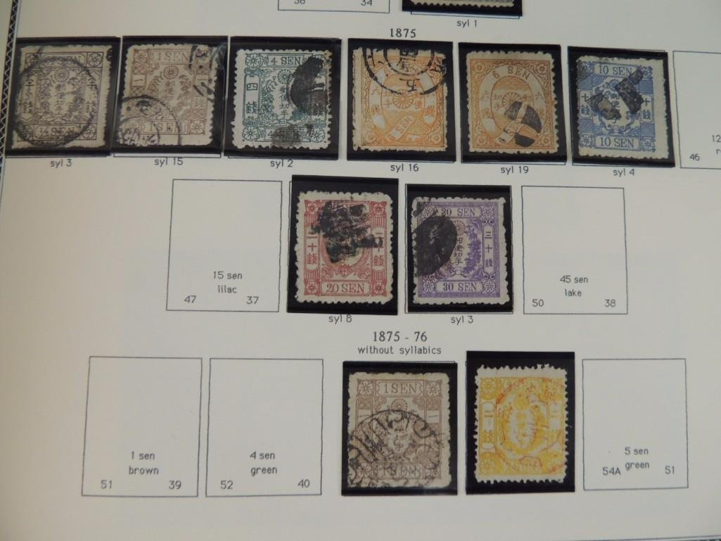 Japanese Postage Stamp Album with 120 Plus Pages 100's - 9