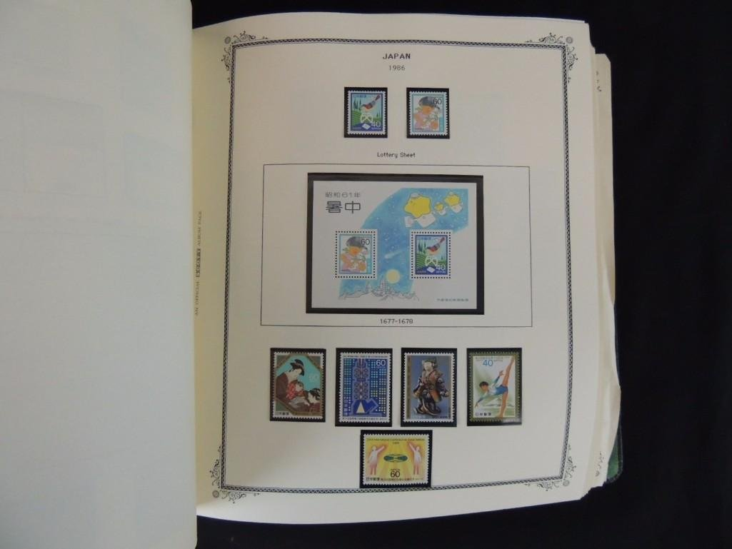 Japanese Postage Stamp Album 1,000's of Stamps Dates - 2