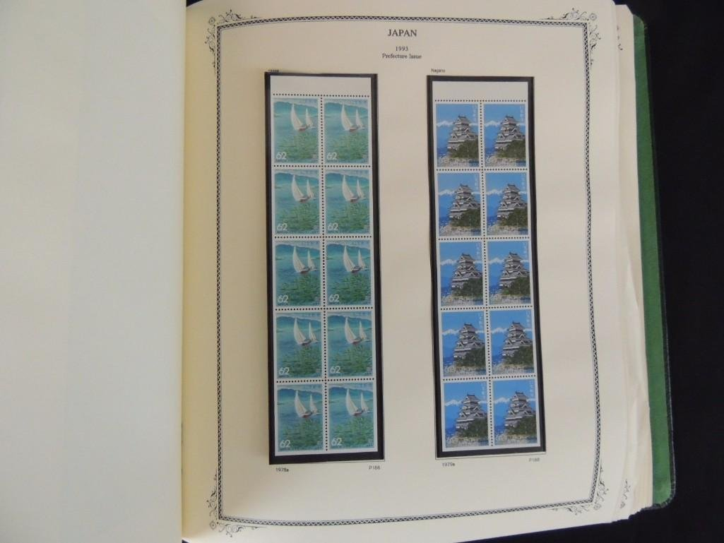 Japanese Postage Stamp Album 1,000's of Stamps Dates - 3