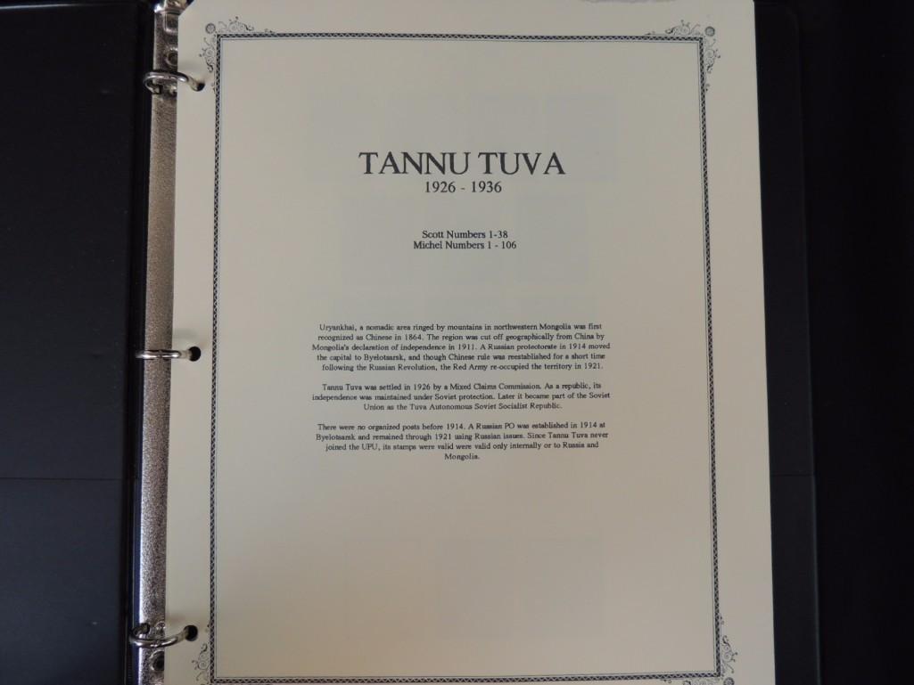 Tannu Tuva 1926-1936 Postage Stamp Album - 2