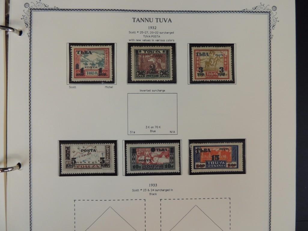 Tannu Tuva 1926-1936 Postage Stamp Album - 6