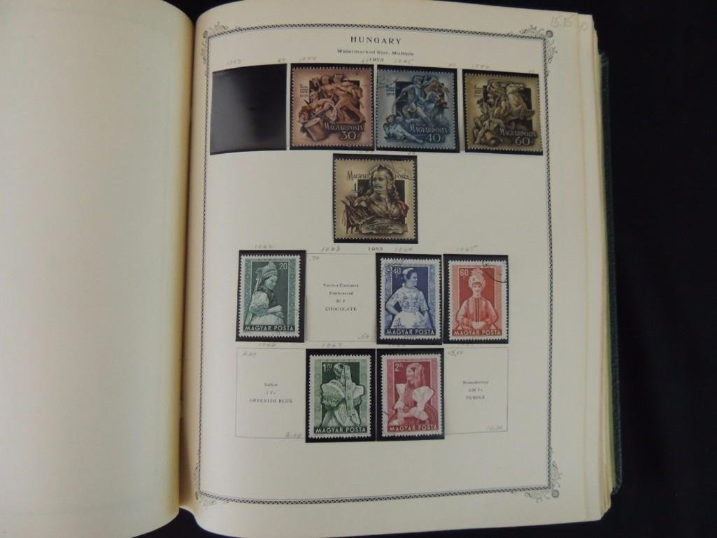Group of 2 Hungary Postage Stamp Albums with 1,000's of - 10