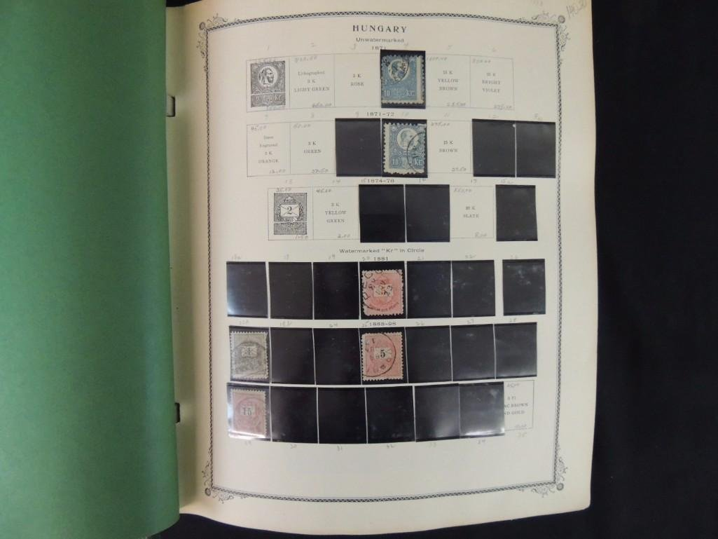 Group of 2 Hungary Postage Stamp Albums with 1,000's of
