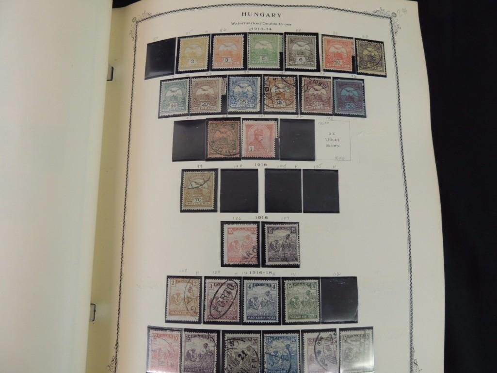 Group of 2 Hungary Postage Stamp Albums with 1,000's of - 2