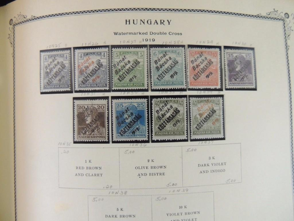 Group of 2 Hungary Postage Stamp Albums with 1,000's of - 4
