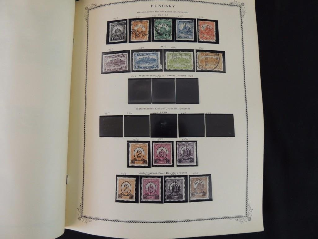 Group of 2 Hungary Postage Stamp Albums with 1,000's of - 5
